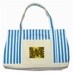 gold-260221 Striped Blue Tote Bag