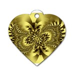 gold-260221 Dog Tag Heart (Two Sides)