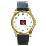 intensive_liquid-104671 Round Gold Metal Watch