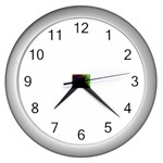 poison-917756 Wall Clock (Silver)