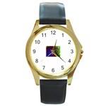 poison-917756 Round Gold Metal Watch