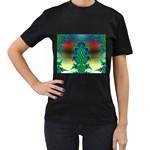 adamsky-416994 Women s Black T-Shirt (Two Sides)
