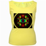 Aloe%20Heat-891123 Women s Yellow Tank Top