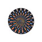 Art-Rings-864831 Rubber Coaster (Round)