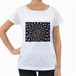 Art-Rings-864831 Maternity White T-Shirt