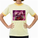 color-galaxy-323371 Women s Fitted Ringer T-Shirt