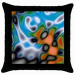 Color_Magma-559871 Throw Pillow Case (Black)