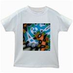 Color_Magma-559871 Kids White T-Shirt