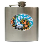 Color_Magma-559871 Hip Flask (6 oz)