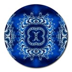 bluerings-185954 Round Mousepad