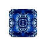 bluerings-185954 Rubber Coaster (Square)