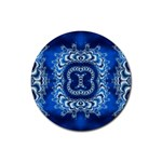 bluerings-185954 Rubber Coaster (Round)