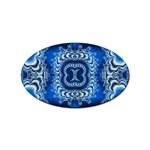 bluerings-185954 Sticker Oval (100 pack)