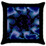 blue%20design%20wave%202-662985 Throw Pillow Case (Black)