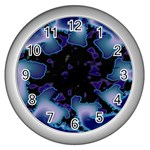 blue%20design%20wave%202-662985 Wall Clock (Silver)