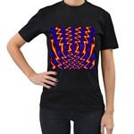 wallpaper%20spumanti%2002-776205 Women s Black T-Shirt