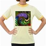 Colorfull_Fractal-215042 Women s Fitted Ringer T-Shirt