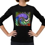 Colorfull_Fractal-215042 Women s Long Sleeve Dark T-Shirt