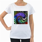 Colorfull_Fractal-215042 Maternity White T-Shirt