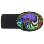 Colorfull_Fractal-215042 USB Flash Drive Oval (4 GB)