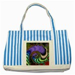 Colorfull_Fractal-215042 Striped Blue Tote Bag