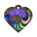 Colorfull_Fractal-215042 Dog Tag Heart (Two Sides)