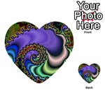 Colorfull_Fractal-215042 Multi-purpose Cards (Heart)