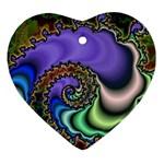 Colorfull_Fractal-215042 Ornament (Heart)