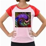 Colorfull_Fractal-215042 Women s Cap Sleeve T-Shirt