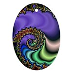 Colorfull_Fractal-215042 Oval Ornament (Two Sides)