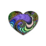 Colorfull_Fractal-215042 Heart Coaster (4 pack)