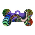 Colorfull_Fractal-215042 Dog Tag Bone (One Side)