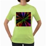 Bounty_Flower-161945 Women s Green T-Shirt
