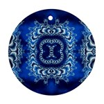 bluerings-185954 Round Ornament (Two Sides)