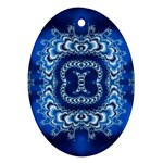 bluerings-185954 Oval Ornament (Two Sides)