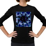 blue%20design%20wave%202-662985 Women s Long Sleeve Dark T-Shirt