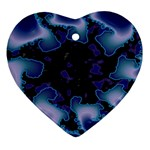 blue%20design%20wave%202-662985 Heart Ornament (Two Sides)