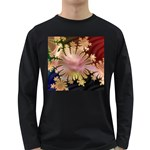abstract-flowers-984772 Long Sleeve Dark T-Shirt