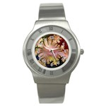 abstract-flowers-984772 Stainless Steel Watch