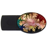 abstract-flowers-984772 USB Flash Drive Oval (4 GB)