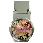 abstract-flowers-984772 Money Clip Watch
