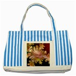 abstract-flowers-984772 Striped Blue Tote Bag