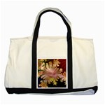 abstract-flowers-984772 Two Tone Tote Bag