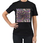 abstract_formula_wallpaper-387800 Women s Black T-Shirt (Two Sides)