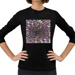 abstract_formula_wallpaper-387800 Women s Long Sleeve Dark T-Shirt