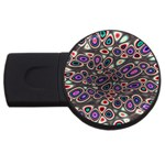 abstract_formula_wallpaper-387800 USB Flash Drive Round (2 GB)