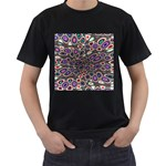 abstract_formula_wallpaper-387800 Black T-Shirt (Two Sides)