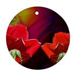 2_Shiny_Roses-77215 Ornament (Round)