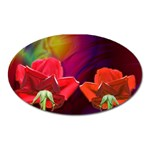 2_Shiny_Roses-77215 Magnet (Oval)