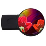 2_Shiny_Roses-77215 USB Flash Drive Round (2 GB)